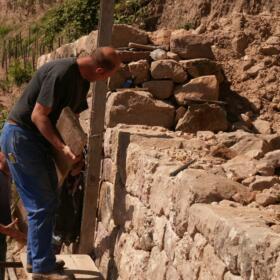 Vigne mur Domaines Schlumberger Alsace