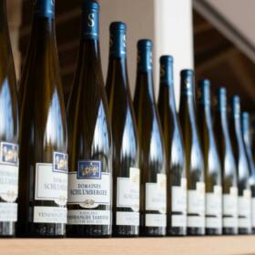Bouteille animation Visite Découverte Schlumberger vin Alsace