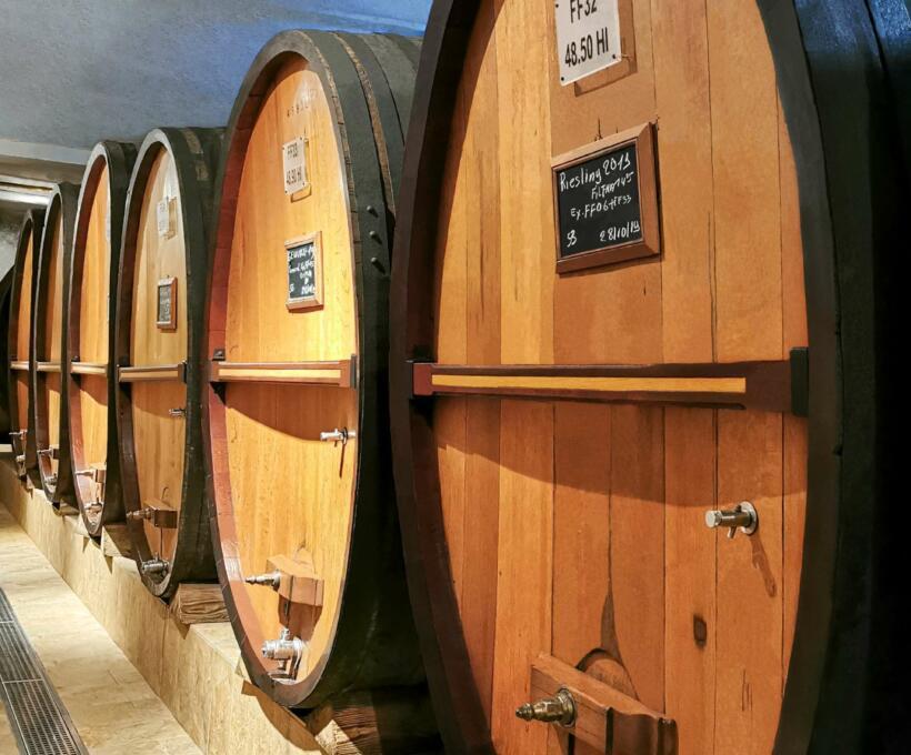 Cave Foudre Visite Prestige Domaines Schlumberger Alsace